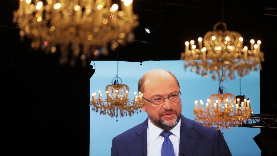 Martin Schulz beim TV-Duell