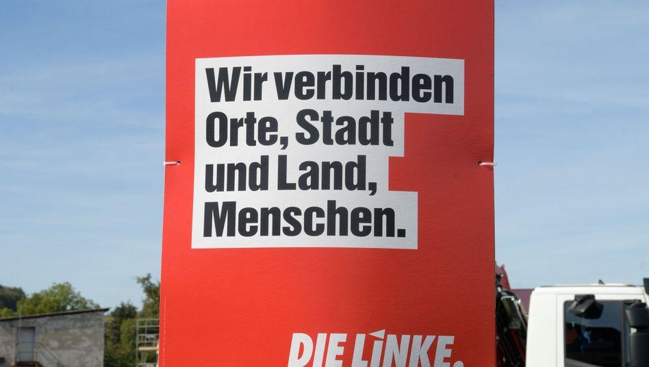 Linken-Plakat in Thüringen: Am kommenden Parteitag steht die Partei vor einer schwierigen Personalentscheidung