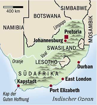 Buntes Land voller Gegensätze: Südafrika