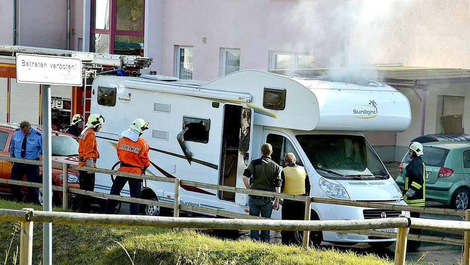 Wohnmobil in Eisenach am 4. November 2011