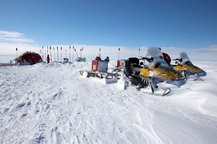 """Eiscamp nach starker Schneedrift: """"Plötzlich wird es still um einen herum"""""""