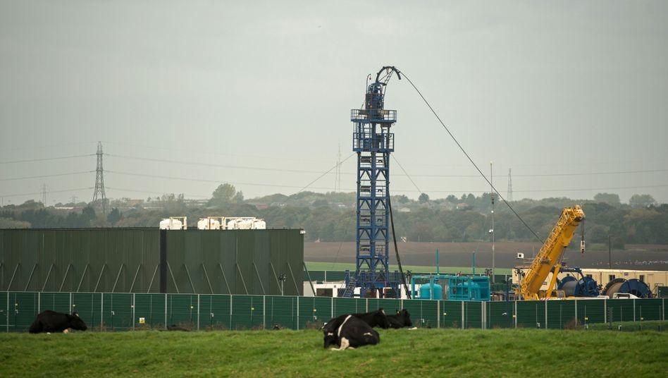 Fracking-Bohrung in der nordwestenglischen Grafschaft Lancashire: Nach einem Erdbeben im August wurde die umstrittene Technik dort ausgesetzt
