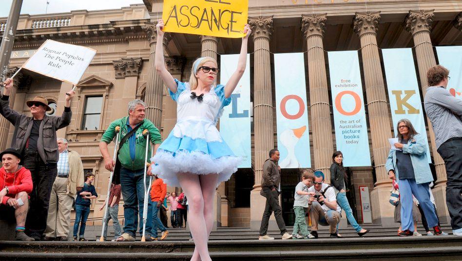 Proteste für Assange in Melbourne: Staatsfeind der USA