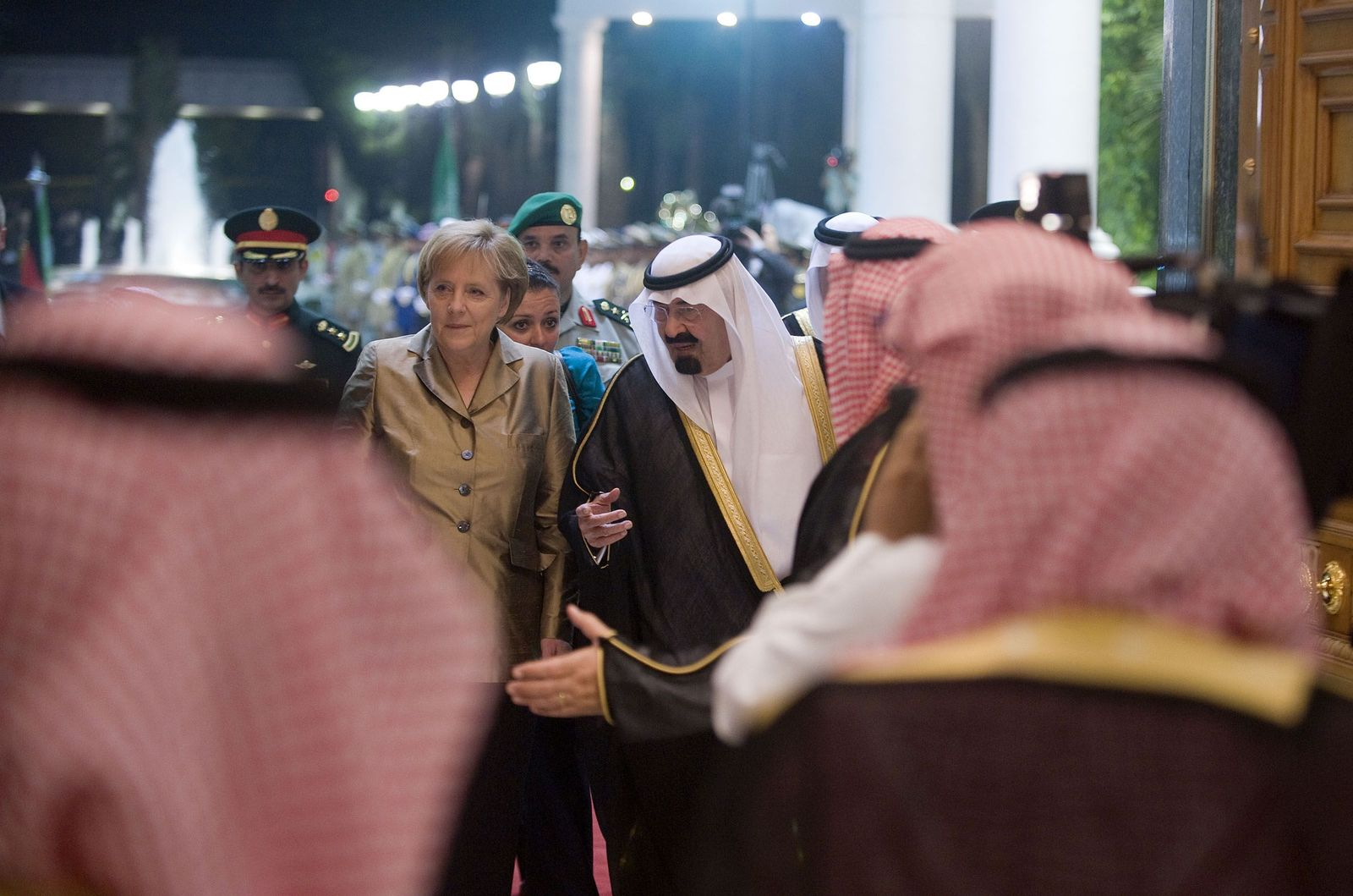 Merkel / Saudi-Arabien / Abdullah