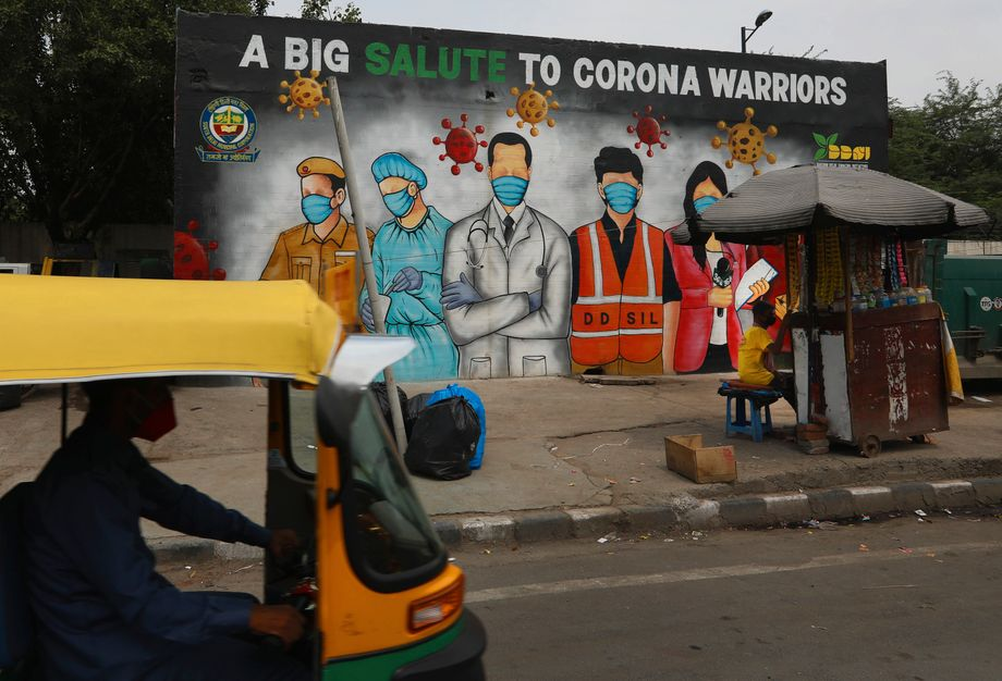 Indien hat die höchste Corona-Neuinfektionsrate der Welt, bisher wurden 1,9 Millionen Corona-Fälle registriert
