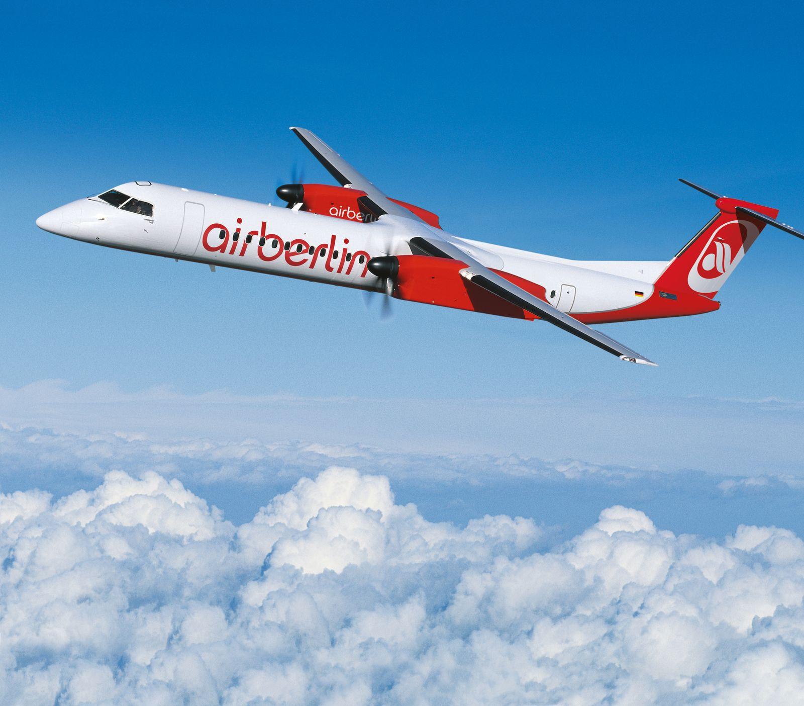 EINMALIGE VERWENDUNG Airberlin/ F Bombardier Dash 8-Q400