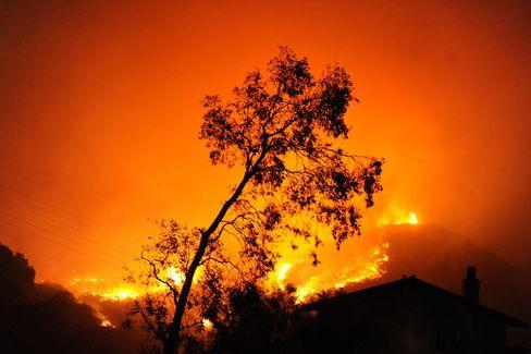 Waldbrand in Kalifornien: Feuersbrünste gehören zu den Folgen, die der Klimawandel nach Meinung der US-Regierung in den USA heute schon hat