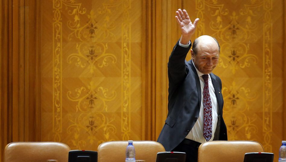 Romanian President Traian Basescu was suspended from office on Friday pending the results of an impeachment referendum at the end of this month.