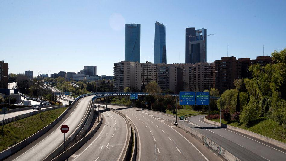 Die Ringstraße der spanischen Hauptstadt Madrid: Ab 2050 verbrennerfrei