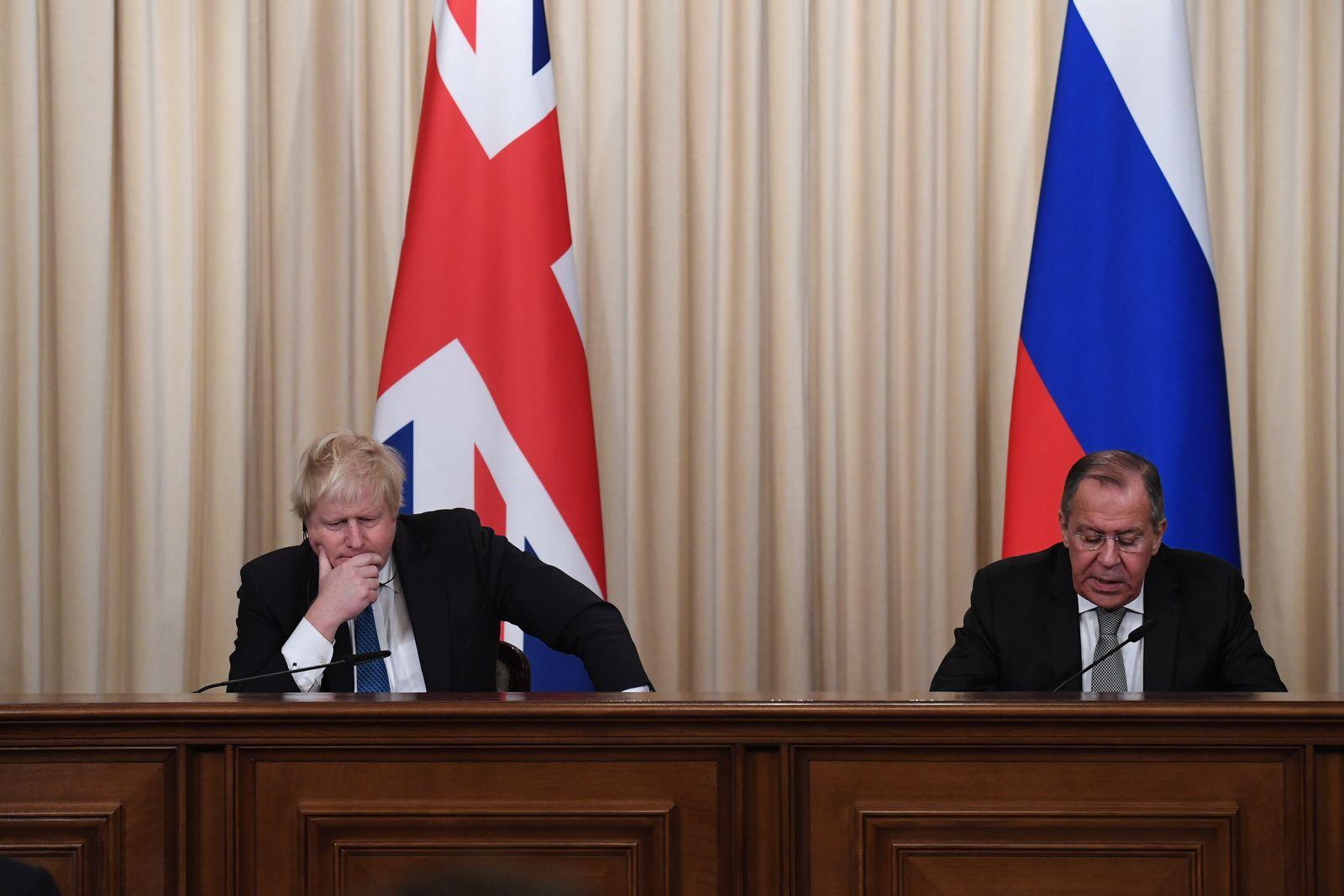 Boris Johnson/ Sergej Lawrow