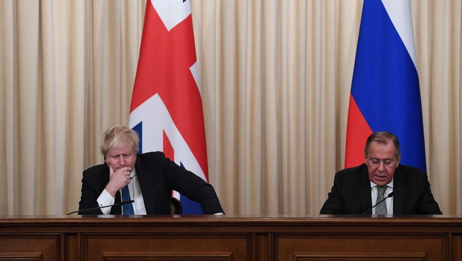 Boris Johnson, Sergej Lawrow in Moskau