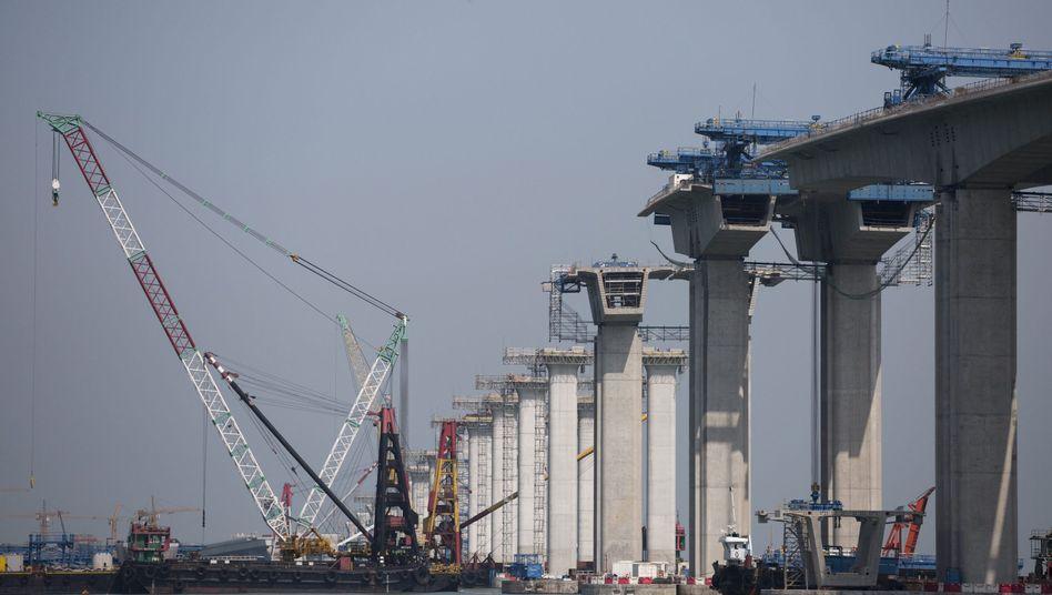 Brückenbau in China