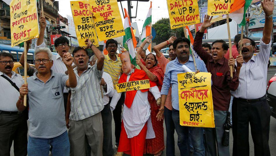 Proteste gegen sexualisierte Gewalt in Kalkutta