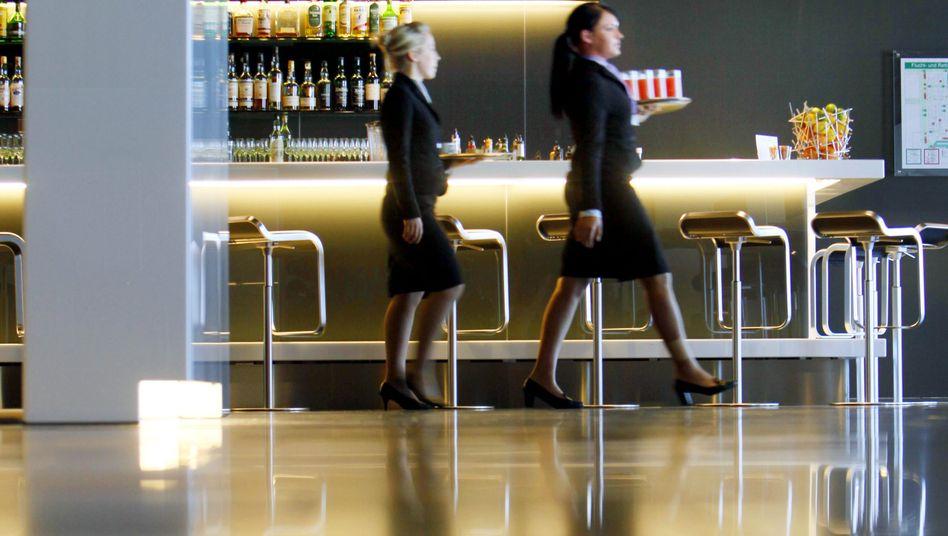 First-Class-Lounge der Lufthansa auf dem Frankfurter Flughafen: Schwindende Privilegien