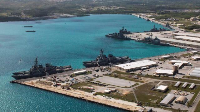 US-Marinestützpunkt im Hafen Apra auf Guam (2016)