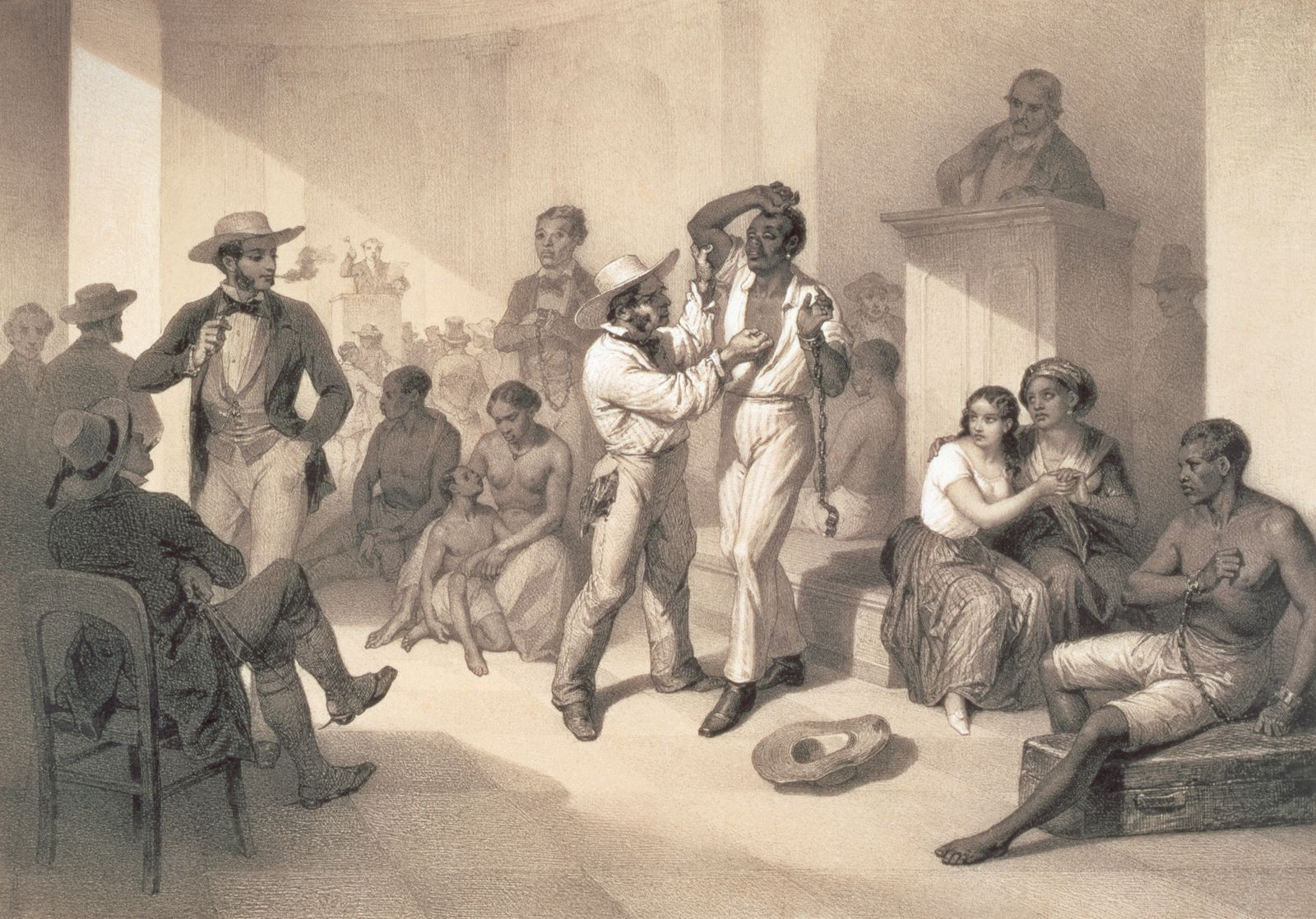 The Sale of Uncle Tom at the Slave Market by Henri-Desire Charpentier