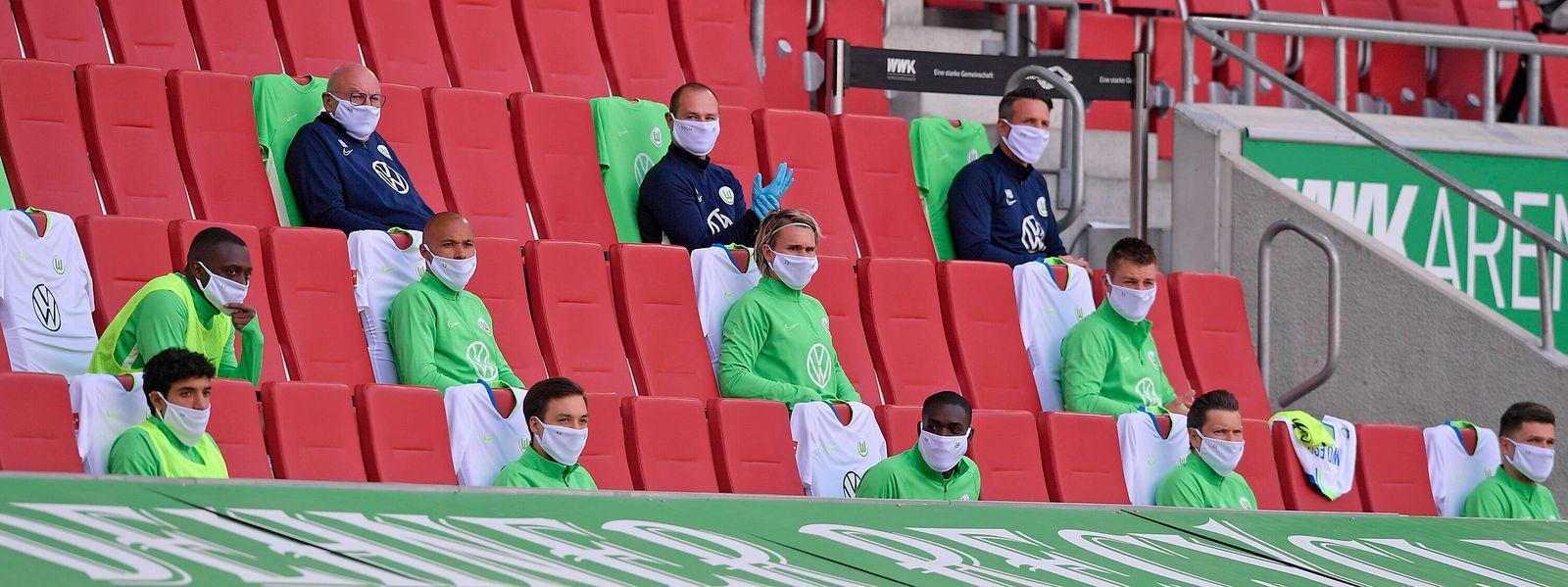 16.05.2020, FC Augsburg - VfL Wolfsburg 16.05.2020, Fussball 1. Bundesliga 2019/2020, 26. Spieltag, FC Augsburg - VfL W