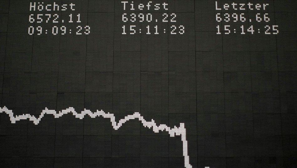 Dax-Kurve am Montag: Die Sorge um Spanien wächst