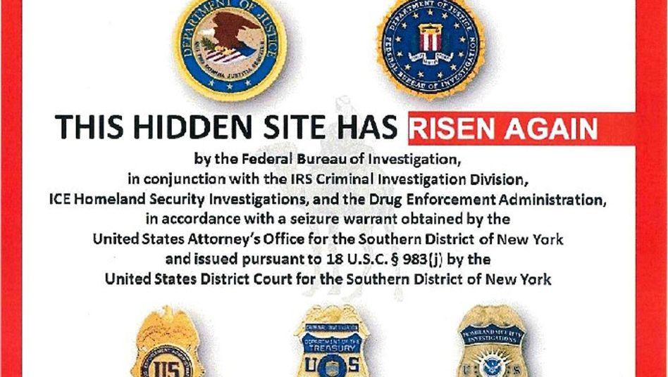 Homepage von Silk Road 2.0: Abgeschaltet von den US-Bundesbehörden