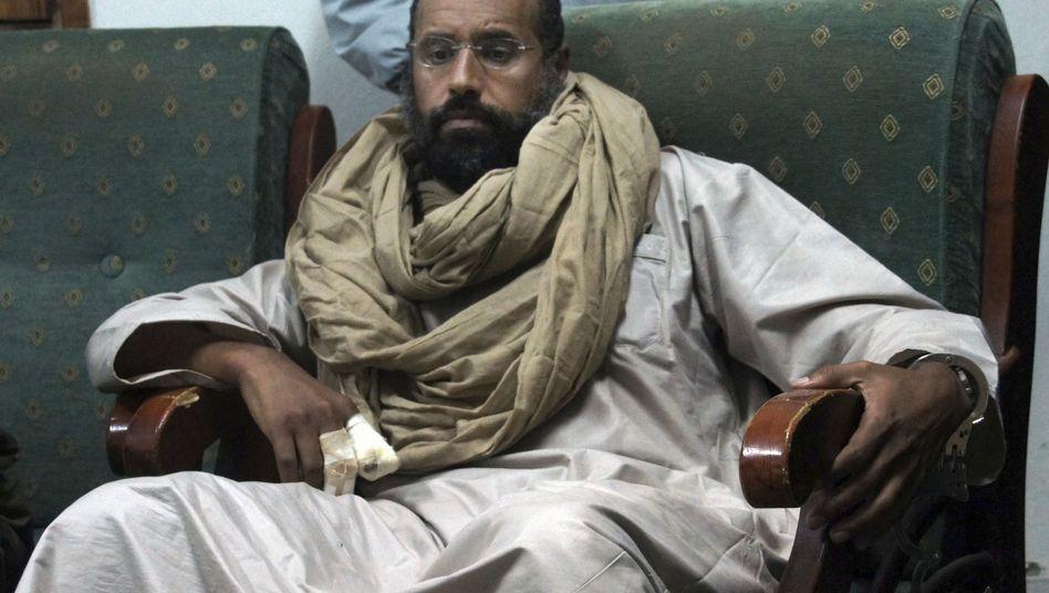 Seif al-Islam in Gefangenschaft (Archivbild)