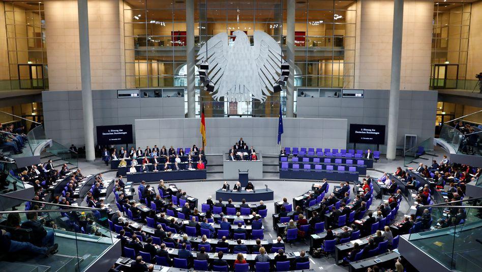 Plenum des Bundestags in Berlin