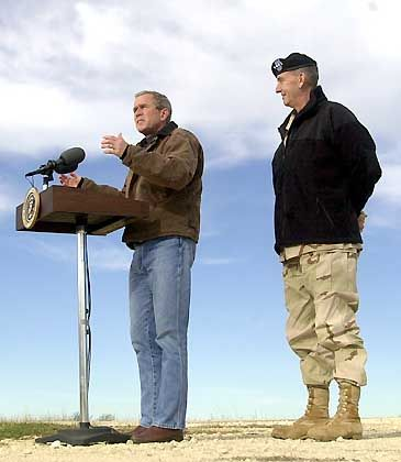Bush und Franks: Zwei Texaner auf Bushs Ranch in Crawford