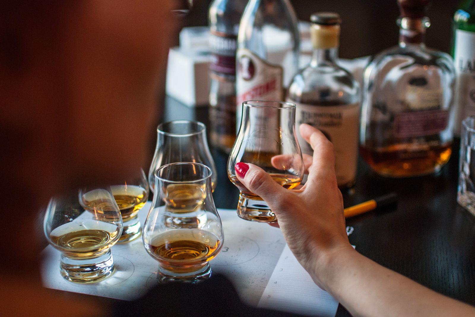 EINMALIGE VERWENDUNG Whiskey