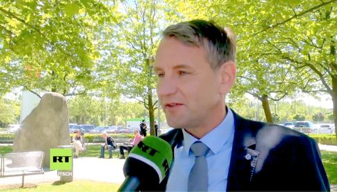 Right-wing extremist politician Björn Höcke of the AfD is a sought-after guest on RT DE.
