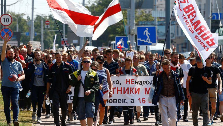 Proteste in Belarus: Die Opposition und die EU erkennen das Wahlergebnis nicht an