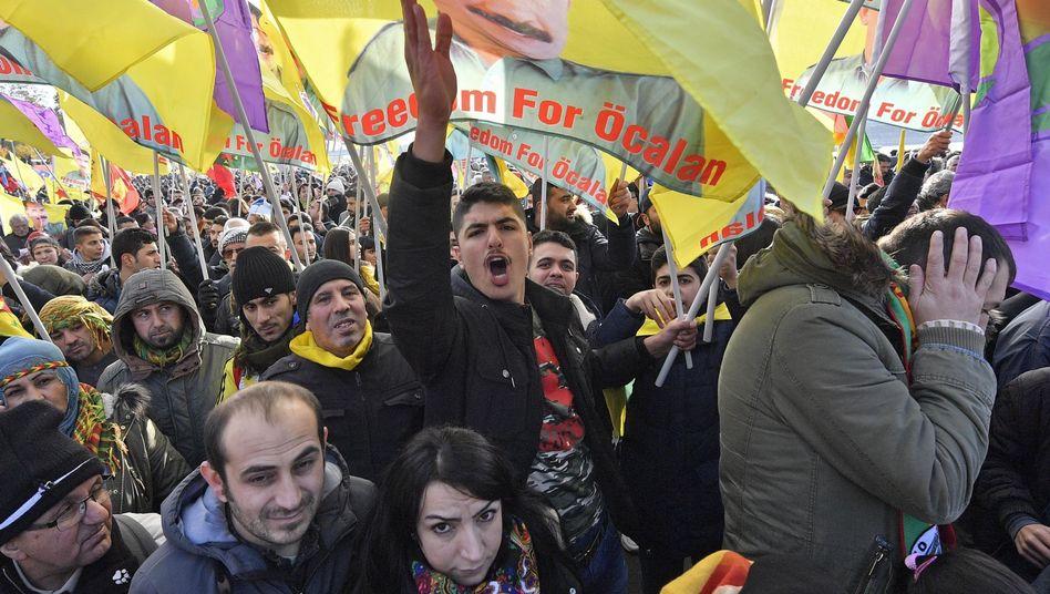 Pro-Kurdische Demonstration in Köln