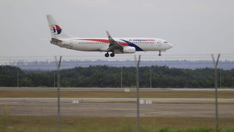Maschine von Malaysia Airlines: PR-Aktion bringt Fluggesellschaft Kritik ein
