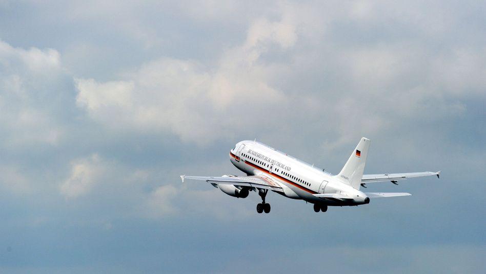 Ein Airbus A319 der Flugbereitschaft: Etwa 223.000 Kilometer ohne Passagiere