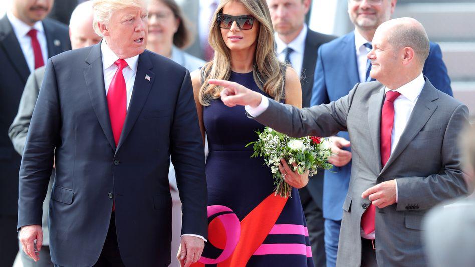 Donald Trump (l.) und Olaf Scholz beim G20-Gipfel in Hamburg