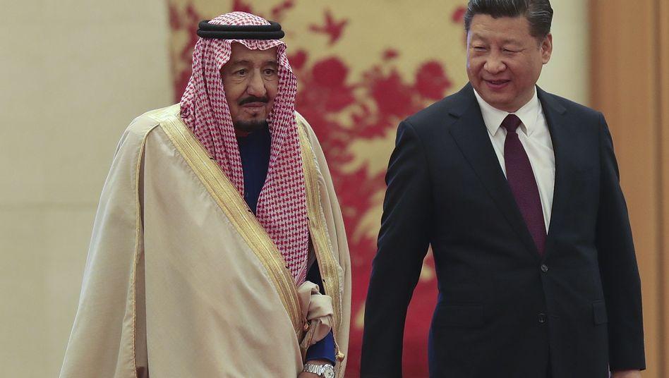 Xi Jinping und der saudische König Salman