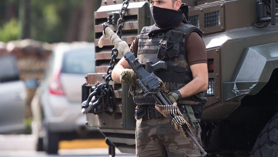 Mitglied einer Spezialeinheit in Istanbul