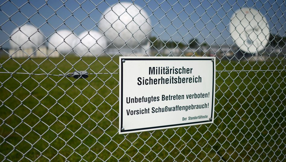 Radar domes at the Bad Aibling station in Bavaria: The Merkel government has made little progress at calming the storm kicked up by the NSA spying scandal.