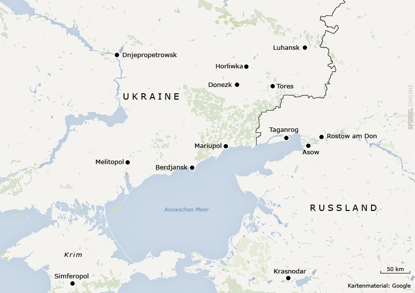 Karte Ukraine Ostukraine Mariupol