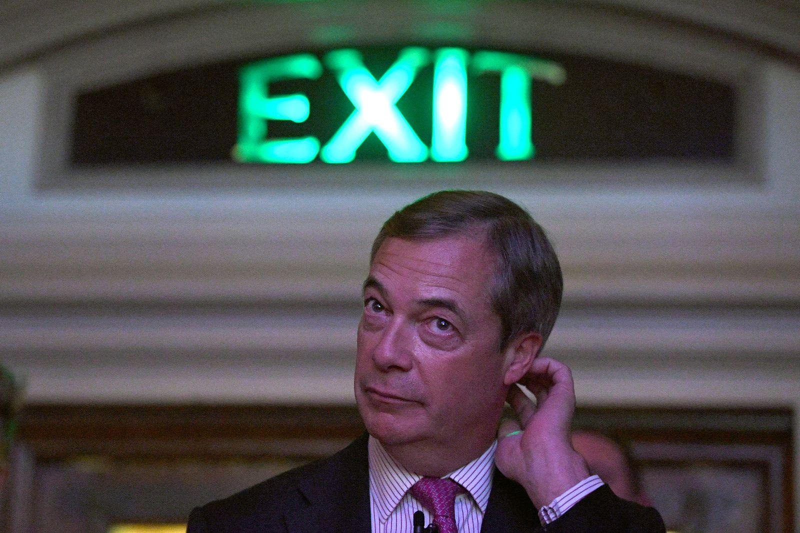 EINMALIGE VERWENDUNG Nigel Farage/ Brexit/ Exit