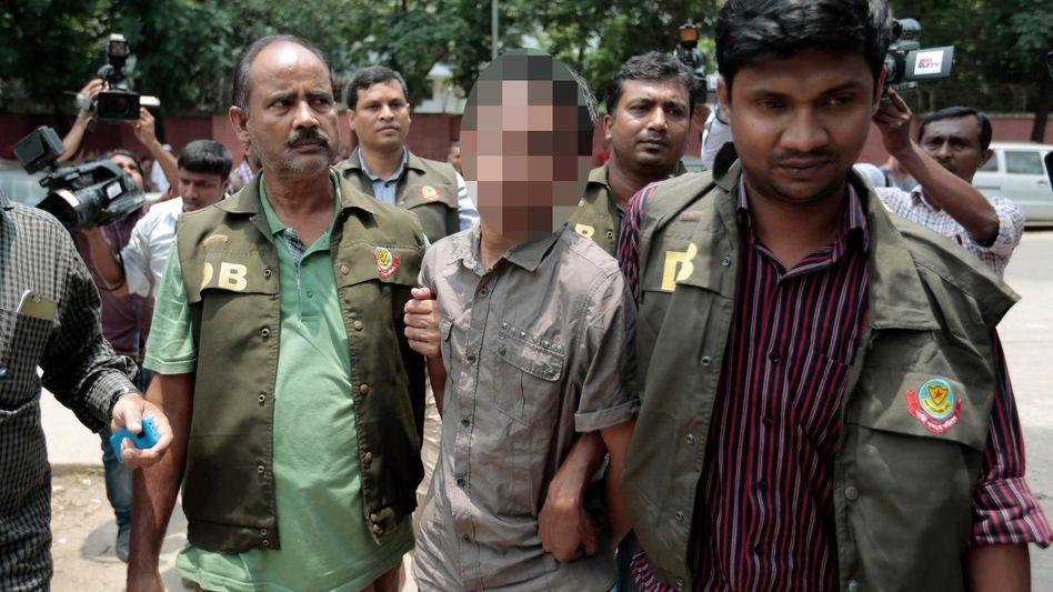 Festnahme in Dhaka, Bangladesch