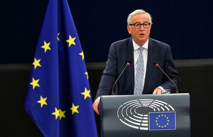 Juncker am 12. September bei der Rede zur Lage der Union