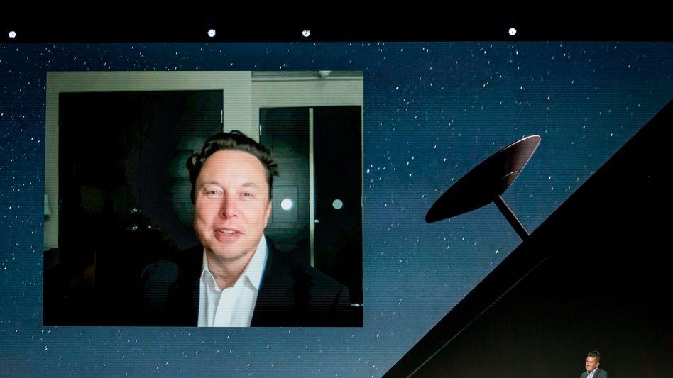 Elon Musk auf dem Mobile World Congress