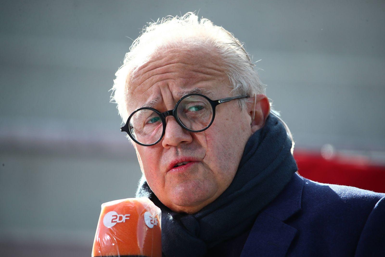 DFB-Praesident Fritz Keller Deutschland vs Norwegen, Fussball, Frauen-Laenderspiel, 13.04.2021 DFB regulations prohibit