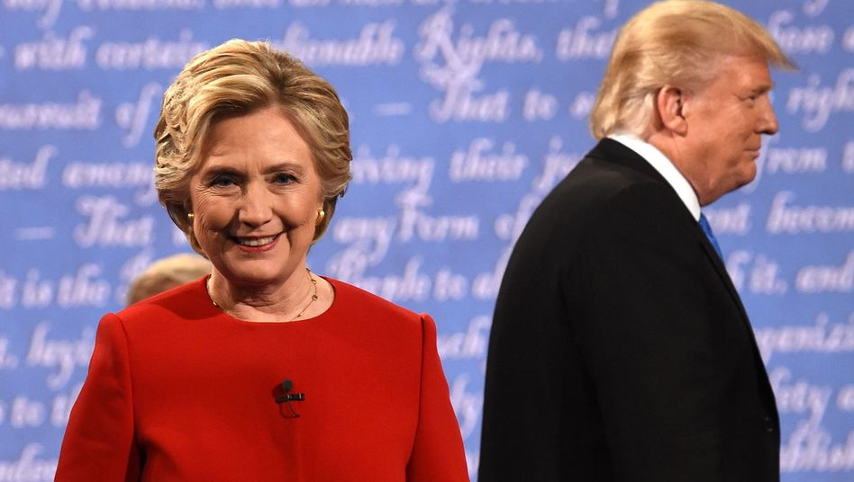 Clinton, Trump im TV-Studio