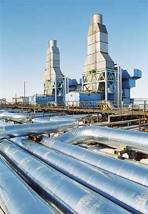 A Gazprom facility in western Siberia.
