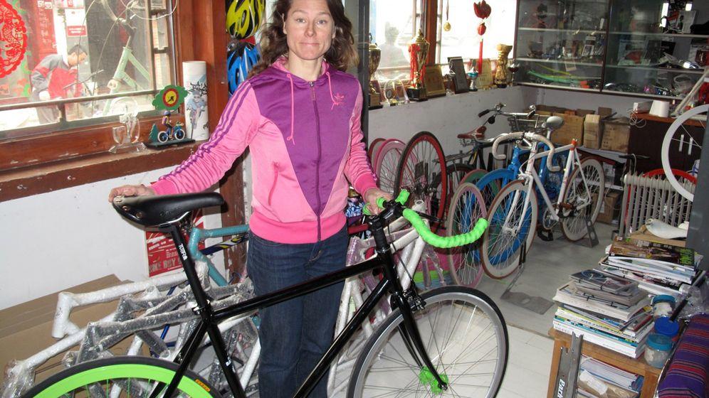 Fahrradladen in Peking: Geschäft ohne Bremse