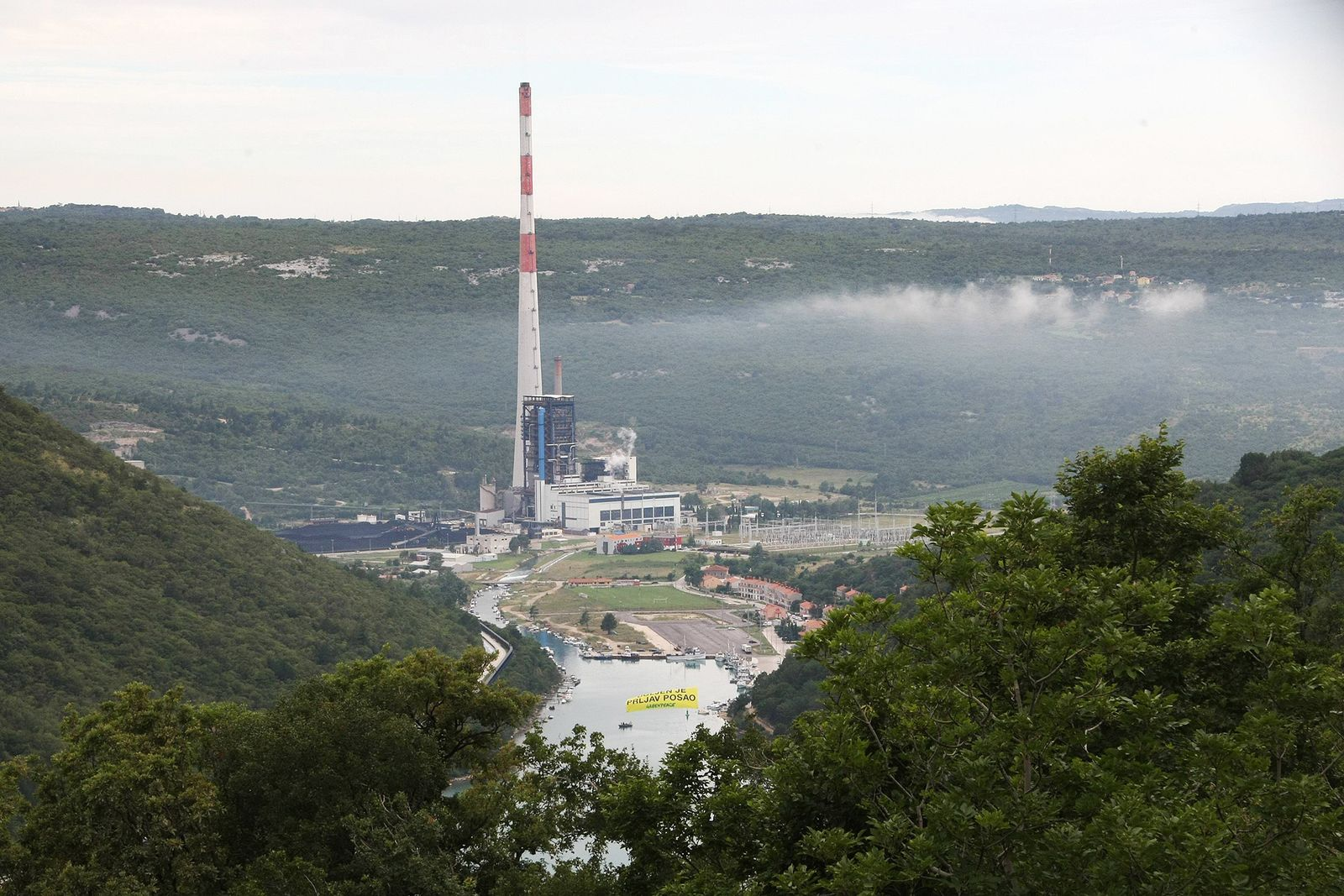 EINMALIGE VERWENDUNG Plomin/ Kohlekraftwerk/ kroatien