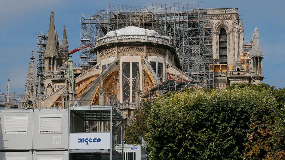 Zur Zeit herrscht Baustopp an der Notre-Dame - die Bleibelastung ist zu hoch