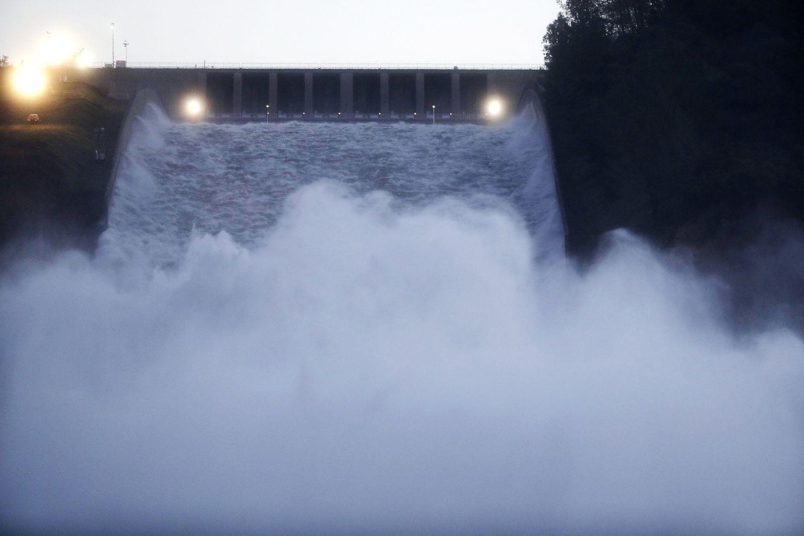 Beschädigter Oroville-Damm