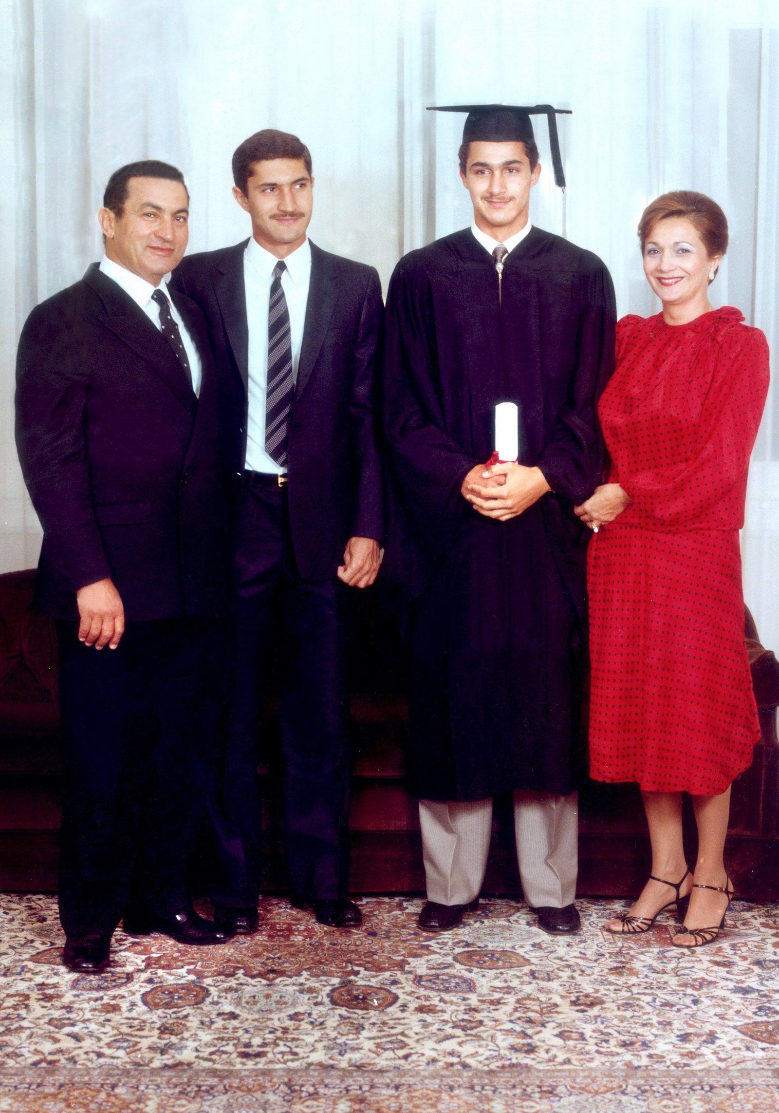 Husni Mubarak und Familie