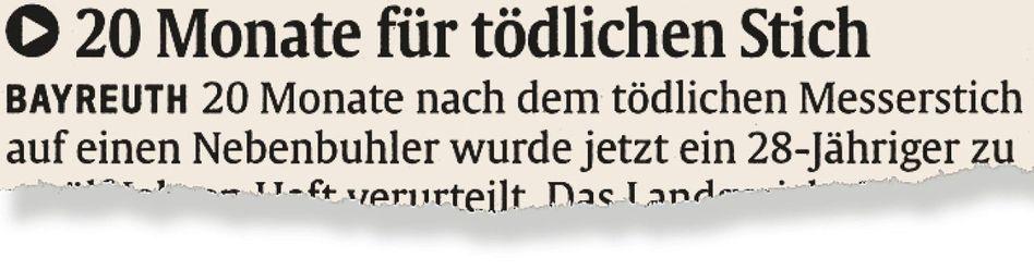 Aus der Münchner »Abendzeitung«